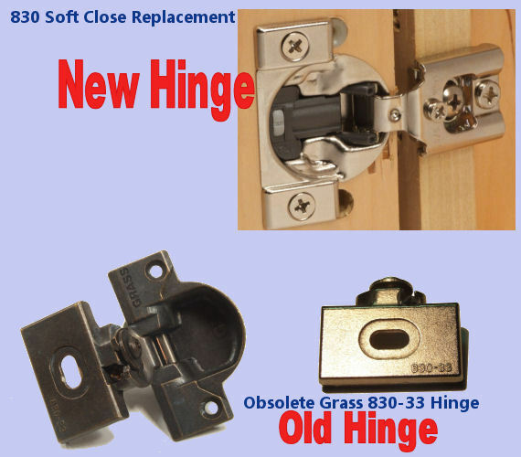 Grass 830 Upgrade Replacement Hinges With Soft Close
