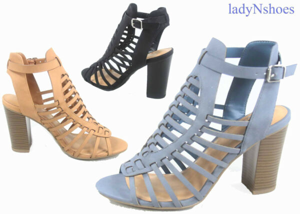 NEW Women's Fashion Buckle Ankle Strap Open Toe Heel Sandals Shoes Size 6 - 11