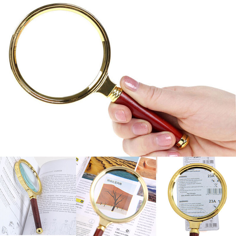 Reading Earrings: 10X Magnifier Magnifying Glass 90mm Handheld Loupe Reading