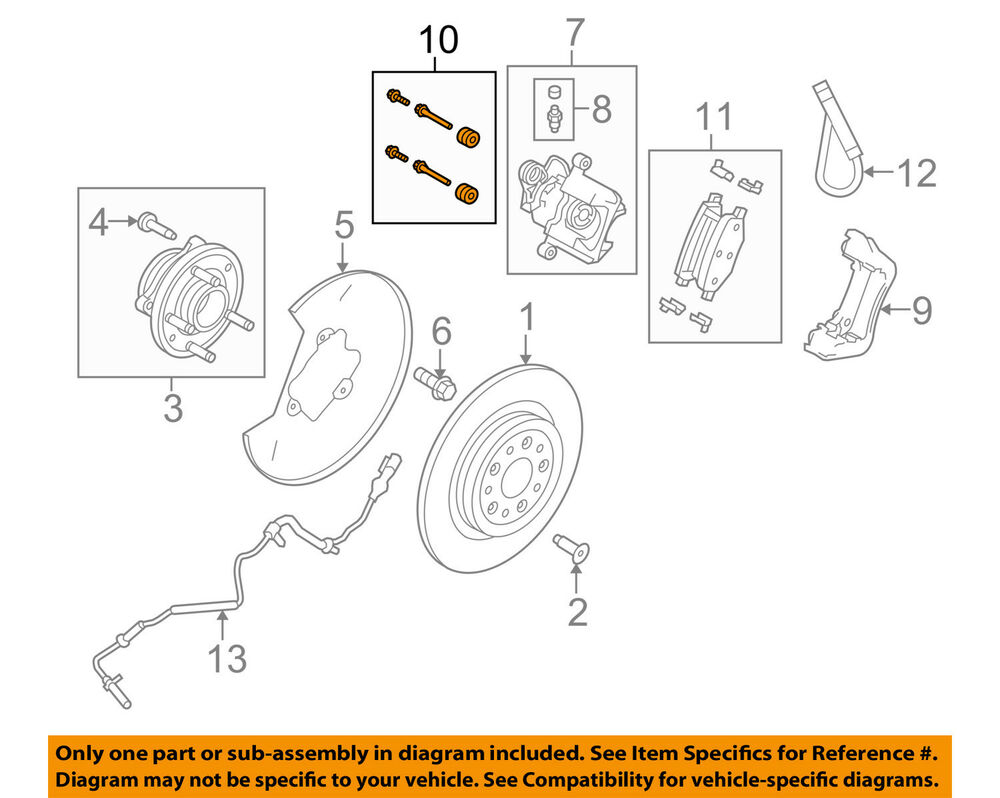 Ford Oem Brake Rear Caliper Support Mount Kit 8a8z2386a Ebay 2009 Lincoln Mks Engine Diagram