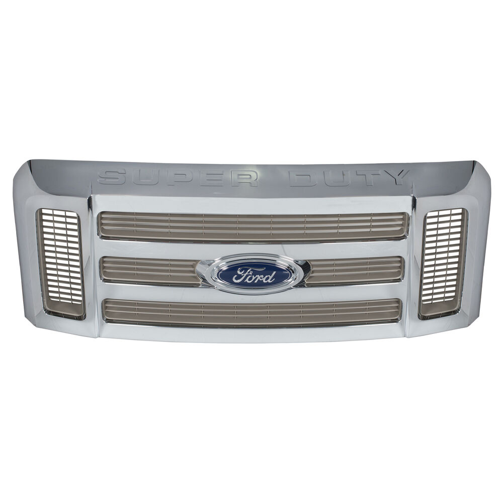 Ford F250 Xl >> 2008-2010 Ford F250 350 450 550 Super Duty Chrome Front Radiator Grille OEM NEW | eBay