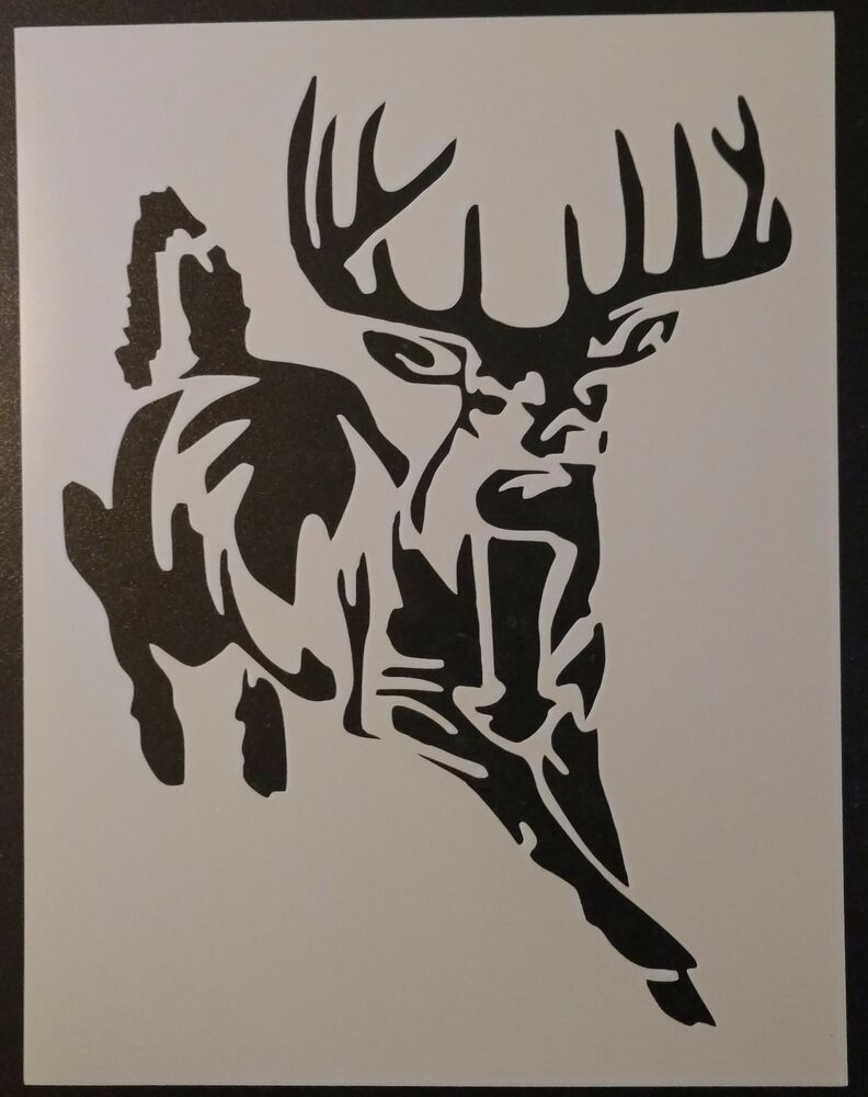 Buck White Tailed Deer Hunting 8 5 Quot X 11 Quot Custom Stencil