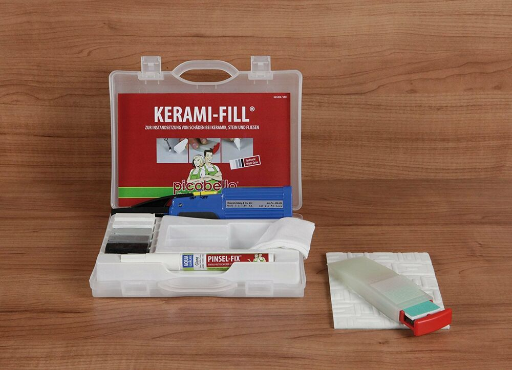Travertine Repair Kit Lowe S : Picobello ceramic tile repair kit white grey by konig ebay
