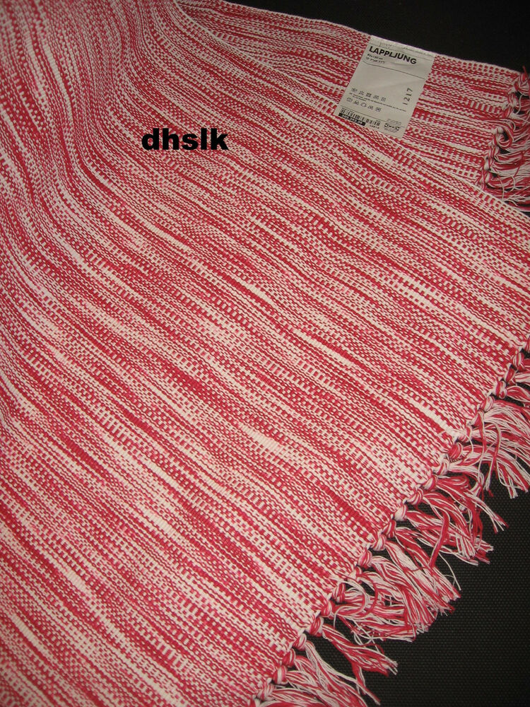 Ikea Black White Stripe Area Throw Rug Mat Runner