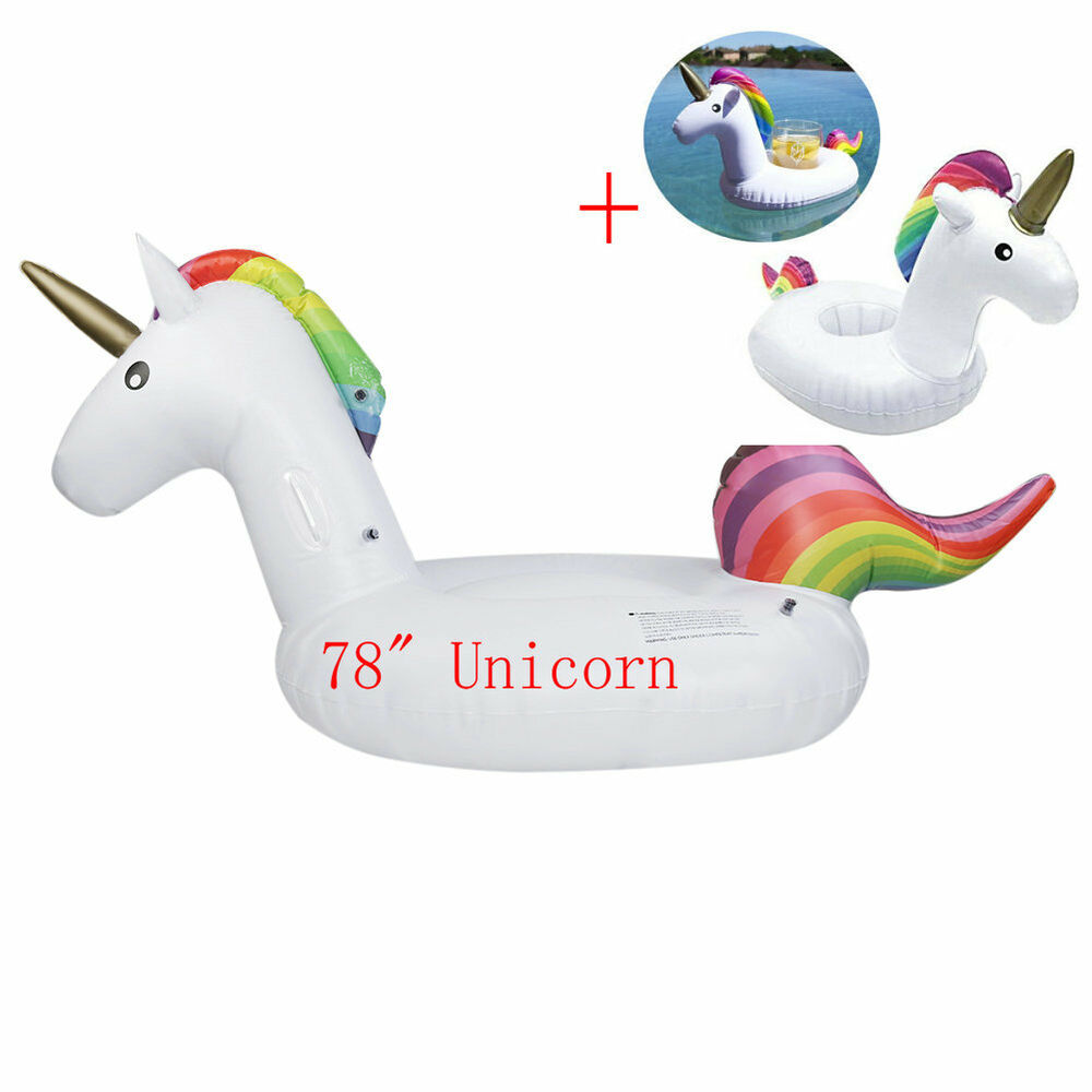 Inflatable Unicorn Floats Pool Water Raft Summer Holiday