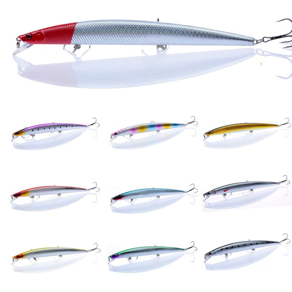 18cm 26g fishing lures 10 colors minnow bait bass for Ebay fishing gear