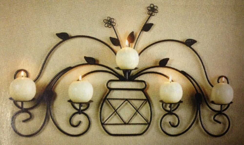 Candle Wall Decor Target : Metal vase wall sconce decor candle votive pillar holder