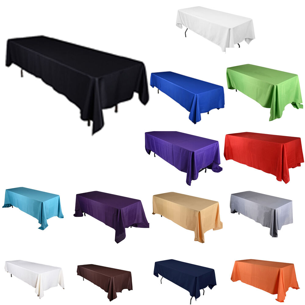 Tulleshop 70 Quot Inch X 120 Quot Rectangular Polyester Tablecloth