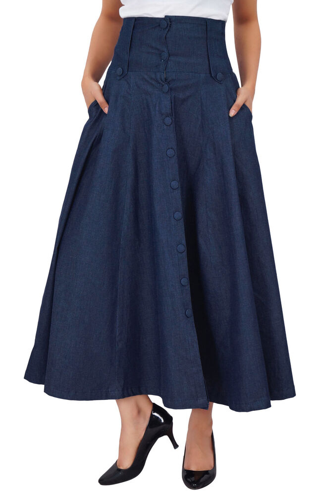 Buy low price, high quality flared denim skirt with worldwide shipping on distrib-wq9rfuqq.tk