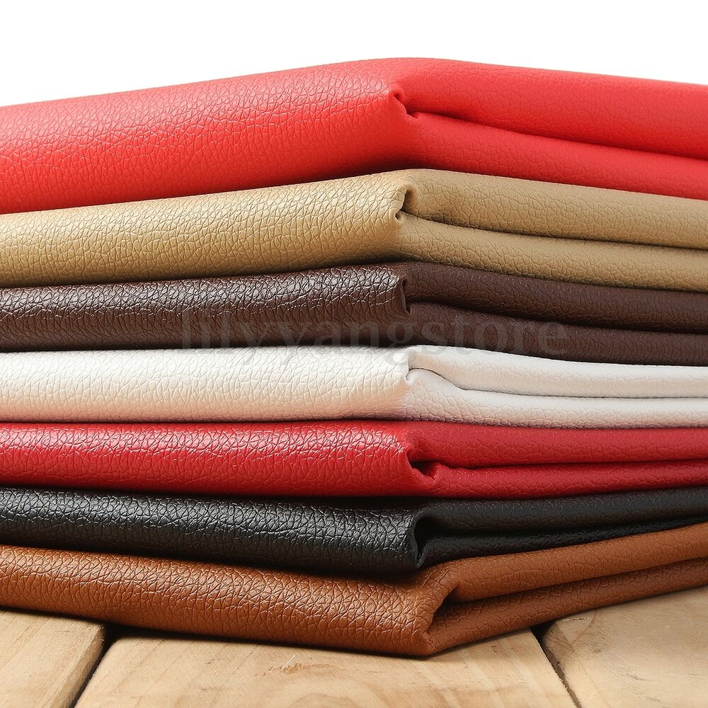 lychee pu leathercloth faux leather vinyl car interior upholstery fabric yard ebay. Black Bedroom Furniture Sets. Home Design Ideas