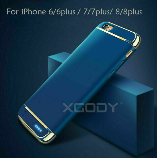 Battery External Power bank Charger Case Charging Cover For iPhone 6 7 8 Plus