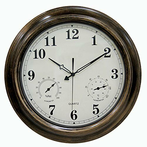 Skynature 18 Inch Large Outdoor Wall Clock Waterproof