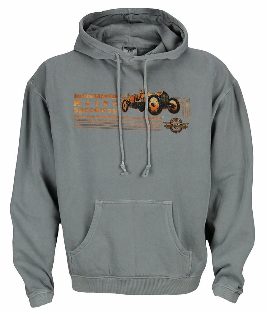 Indianapolis indy 500 motor speedway mens retro hoodie for Indianapolis motor speedway clothing