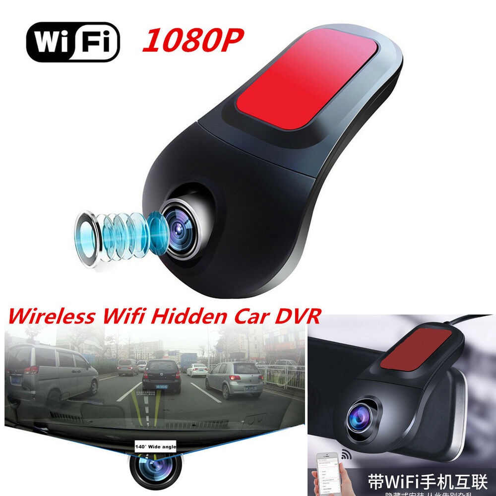 Wireless HD 1080P 140°Wide Angle Car Hidden Camera DVR
