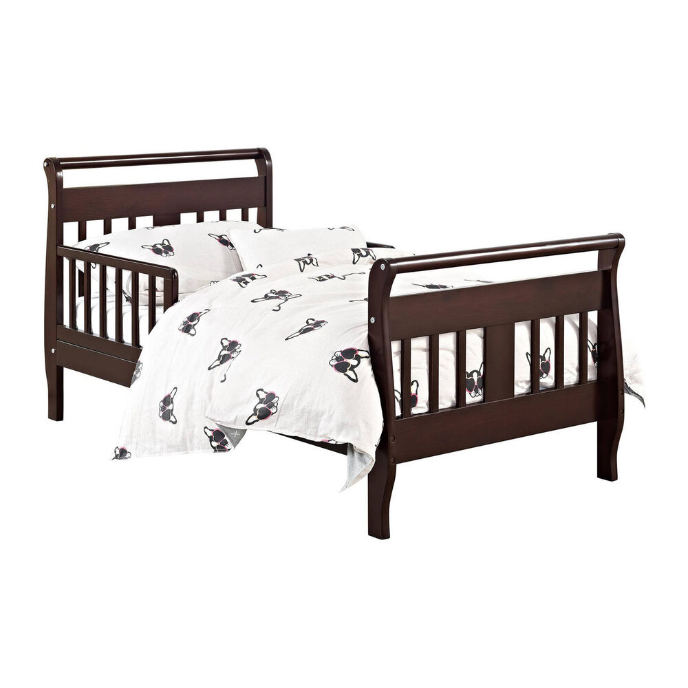 Details about toddler bed frame bedroom furniture baby kids children wood espresso new