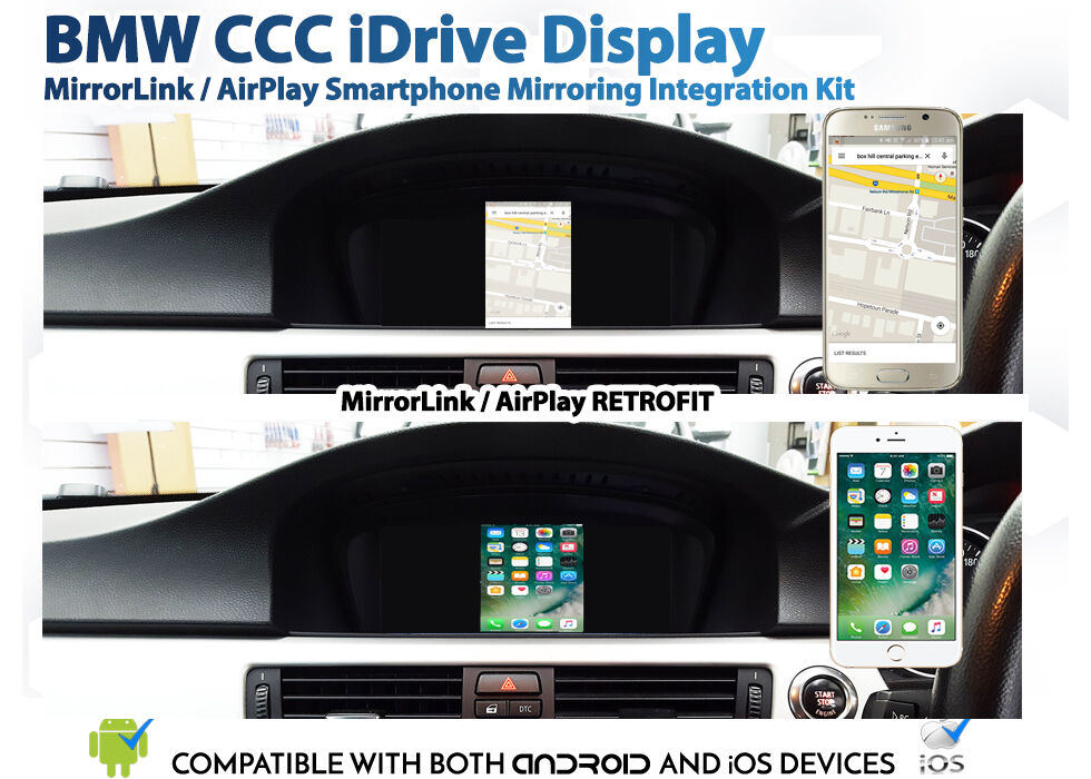 bmw ccc e90 3 series idrive android mirrorlink ios airplay. Black Bedroom Furniture Sets. Home Design Ideas