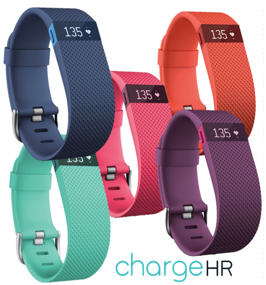 fitbit charge hr activity fitness tracker heart rate wristband watch 2 sizes ebay. Black Bedroom Furniture Sets. Home Design Ideas