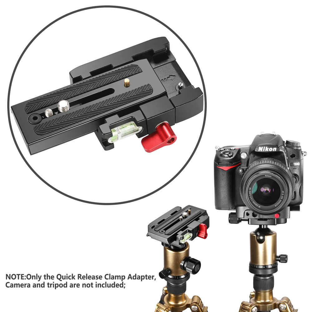 Neewer pro aluminum alloy quick release plate adapter with