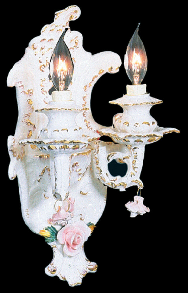 Capodimonte Made In Italy Wall Light Sconce A 2 Lights 2