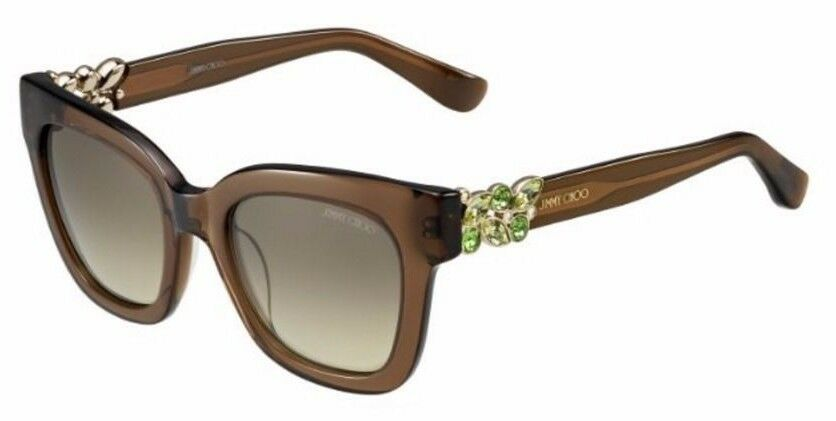 ba8e0758defc Details about JIMMY CHOO Square Sunglasses MAGGIE S A2K6P Transparent  Crystal Brown 51MM