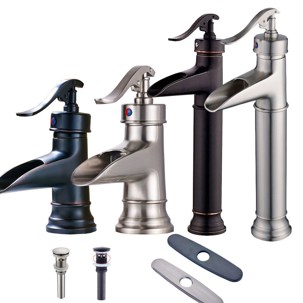 mixer taps for bathroom sink waterfall spout bathroom sink faucet basin mixer tap 23788 | s l1000