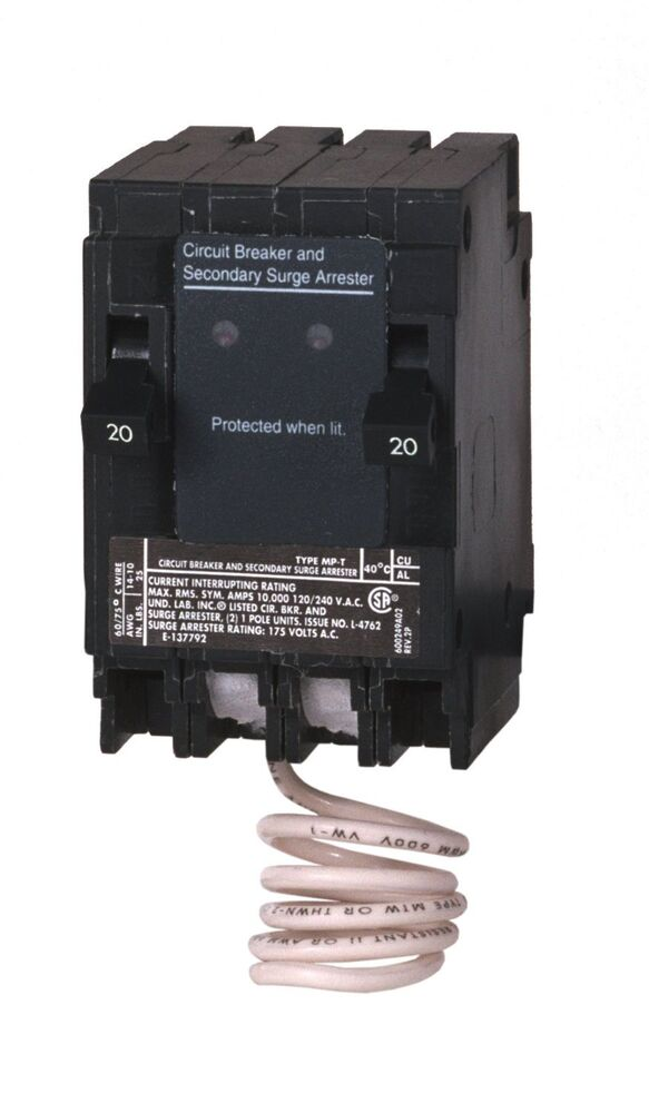 Murray Msa2020spd House Surge Protection With Two 1 Pole 20 Amp Breaker Ebay