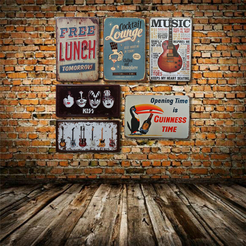 Retro music cocktail metal tin signs bar pub wall door for Retro house music