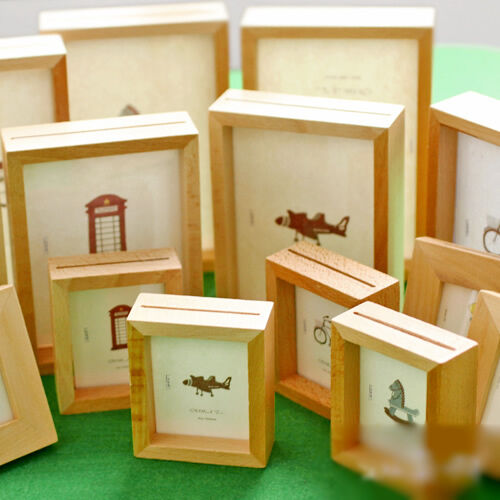 Home Decor Wooden Picture Frame Wall Mounted Hanging Desk