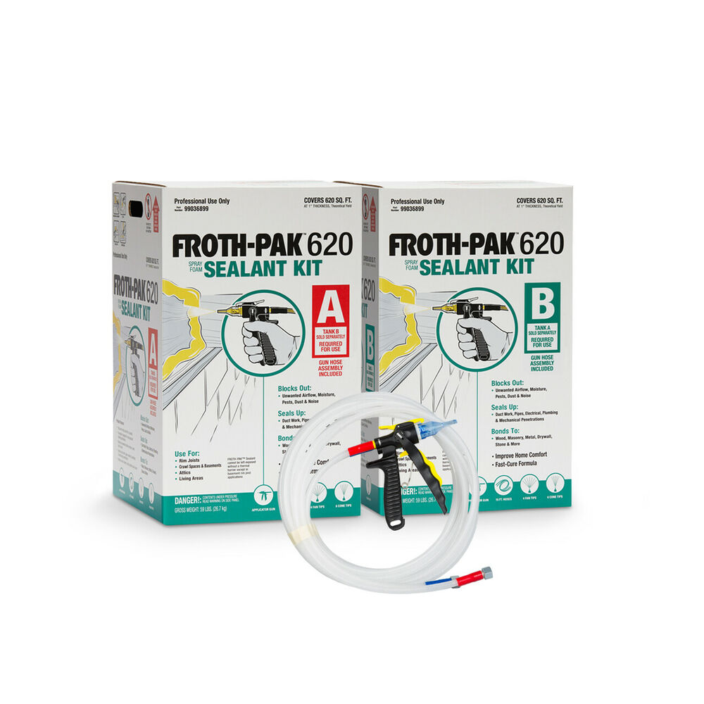 Spray Foam Insulation Kit, Dow Froth Pak 620, 620BF