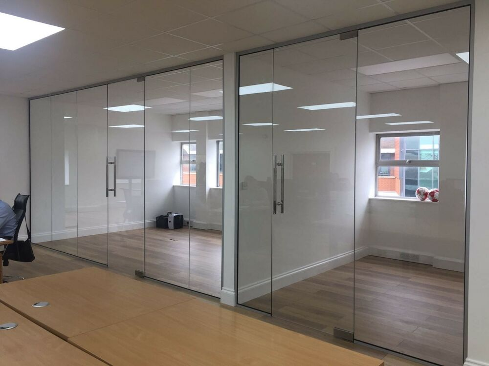 Lumicor Partition Panel System : Glass panel wall system toughened partitioning ebay