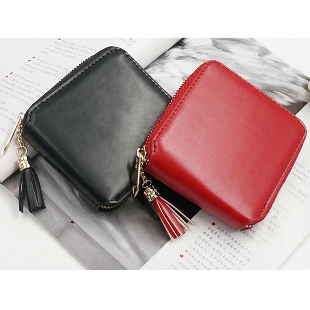 31269c5e7 Details about Fashion Women Leather Small Wallet Card Holder Zip Coin Purse  Clutch Bag Handbag