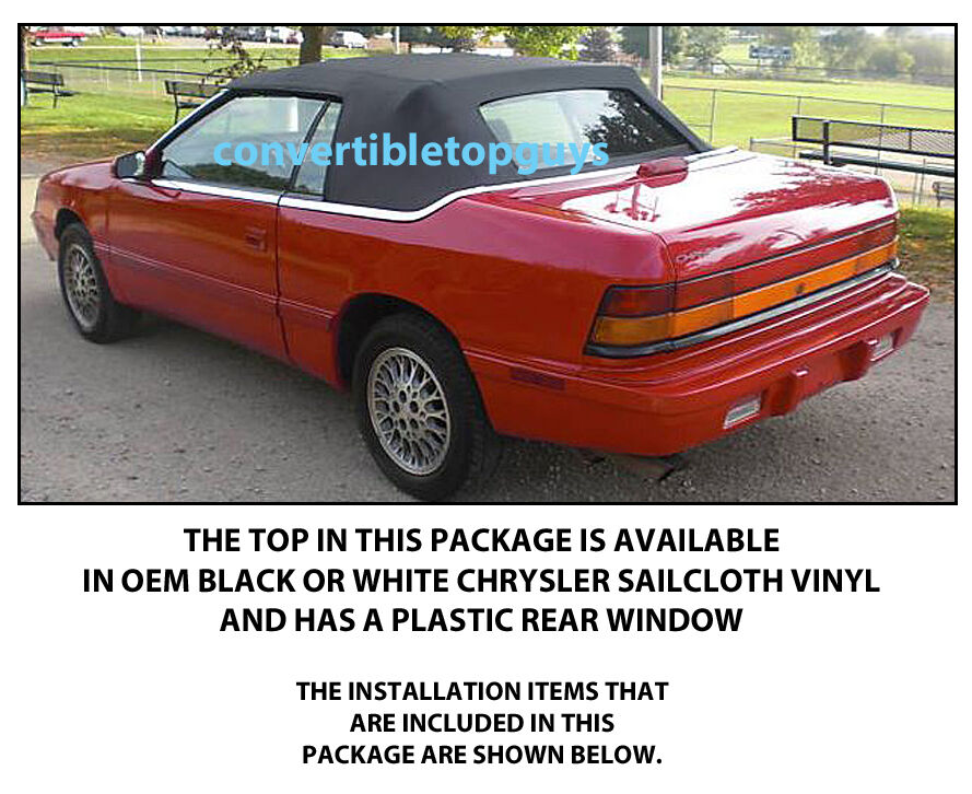 Details About Chrysler Lebaron Convertible Top Do It Yourself Package 1990 1995