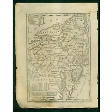 1841 Map of the Middle States by S.G. Goodrich of Mass.