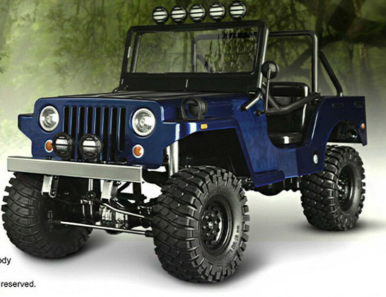 rc truck body shell 1 10 sawback sports jeep wrangler willys military jeep new ebay. Black Bedroom Furniture Sets. Home Design Ideas