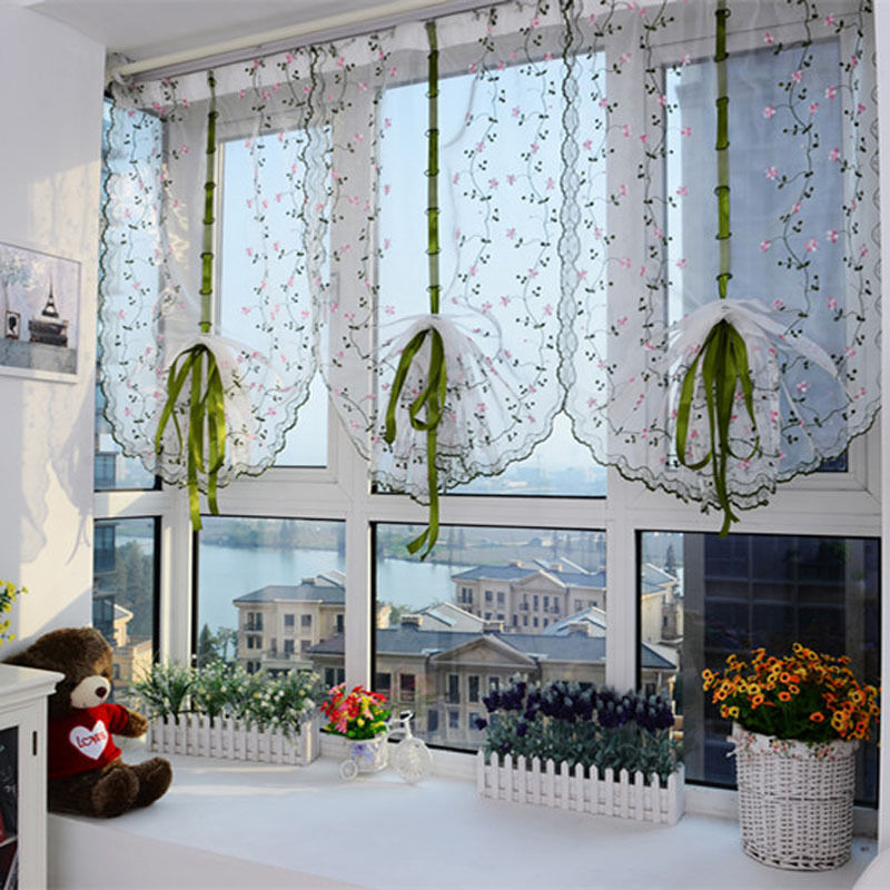 blumen farbe t ll t r fenster vorhang dransein panel durchsichtig schal volant ebay. Black Bedroom Furniture Sets. Home Design Ideas