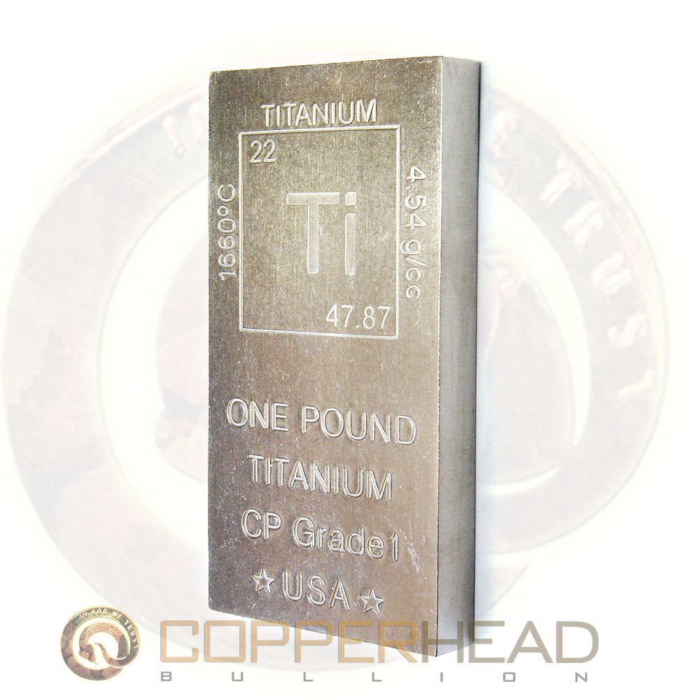1 Lb Pound 16oz Titanium Bar Element Design 999 Fine