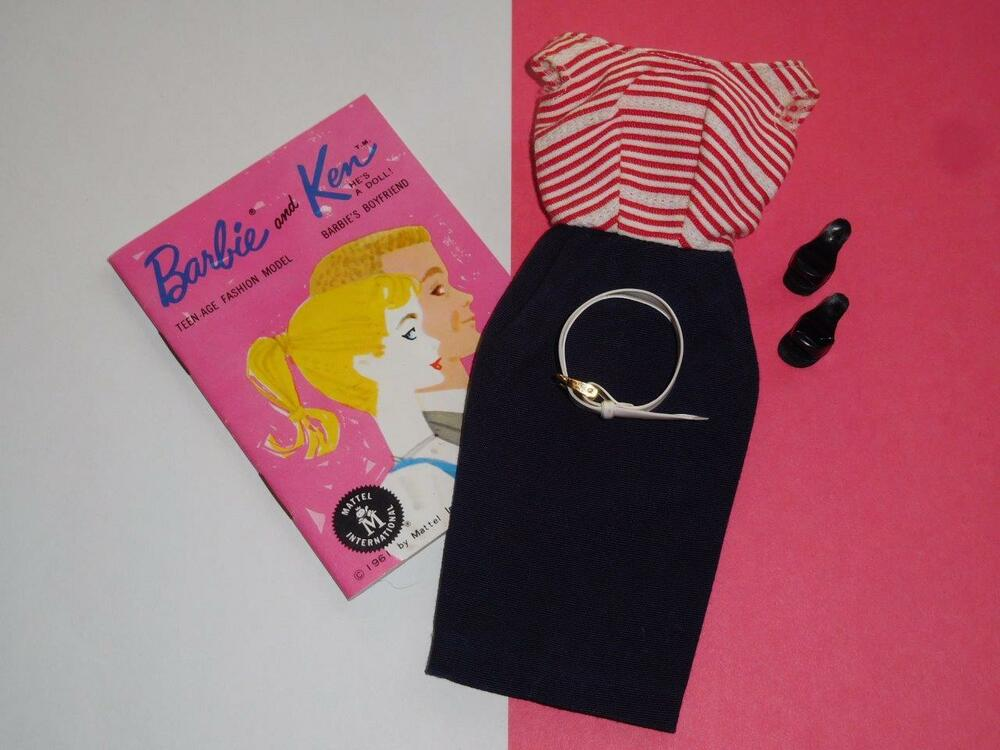 Vintage 1959 BARBIE Doll CRUISE STRIPES Outfit