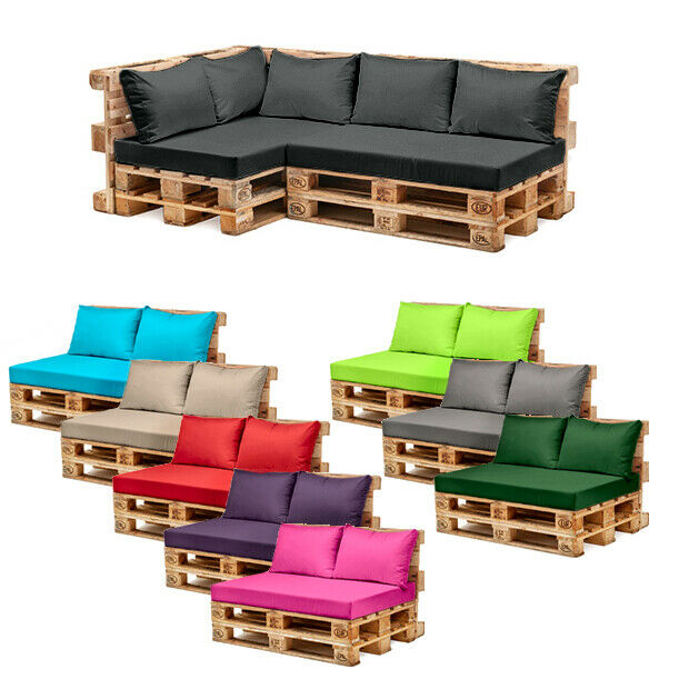 Outdoor Patio Furniture Pads: Pallet Garden Furniture Cushions Sets Water Resistant