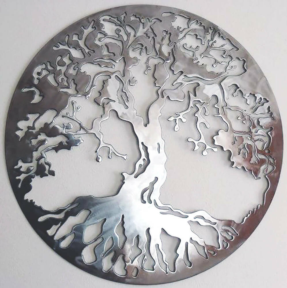 Abstract Stainless Steel Wall Sculpture Tree Of Life Art
