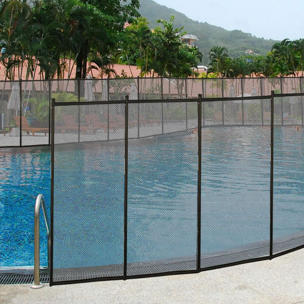 X in ground swimming pool safety fence section