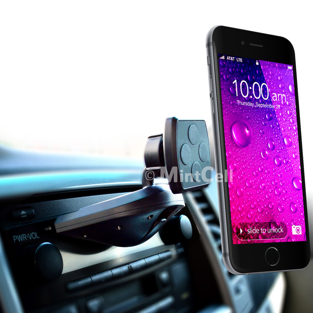 Magnetic cell phone car holder cd slot mount 9