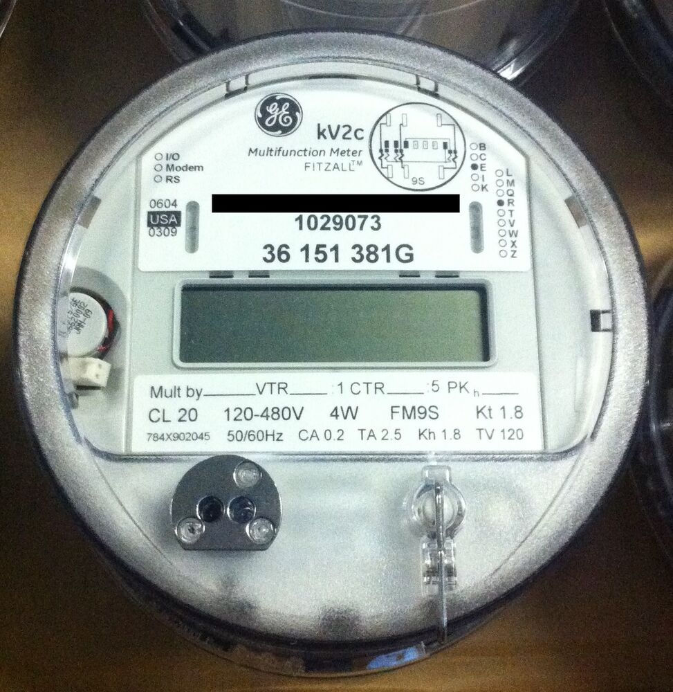 Electric Meter Number : Ge general electric watthour meter kwh kv c fm s