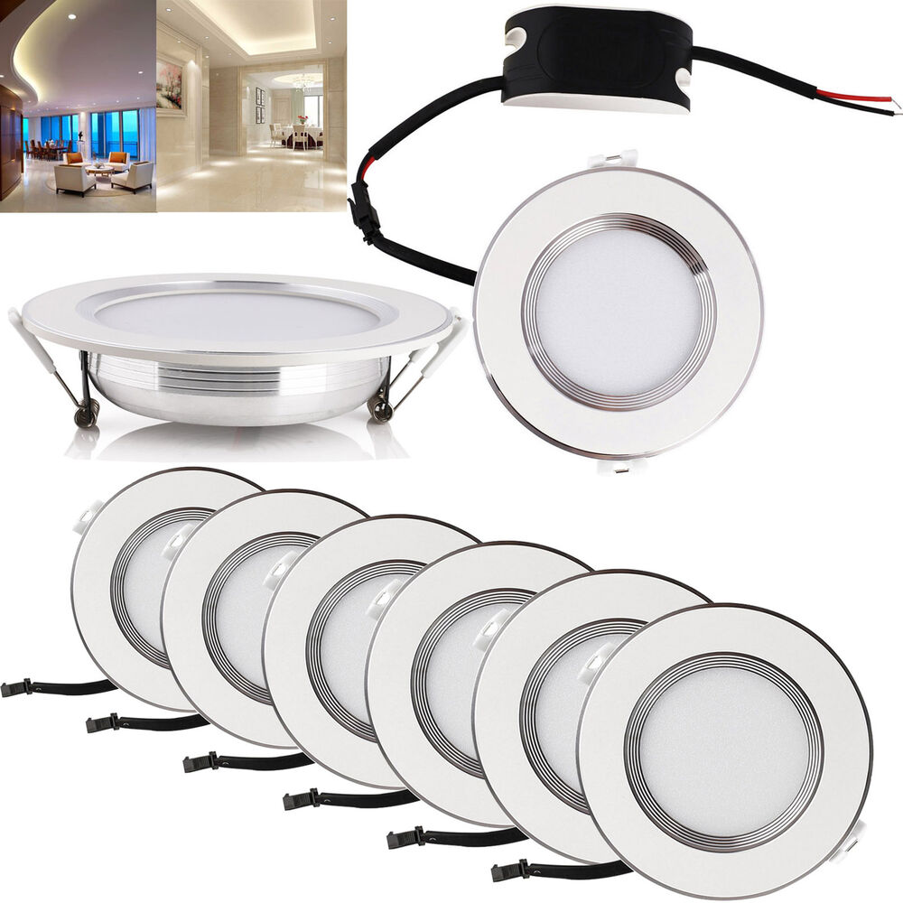 6w 12w 18w 24w Led Recessed Ceiling Flat Panel Down Light: LED Recessed Ceiling Panel Down Lights Fixture 6W 8W 10W