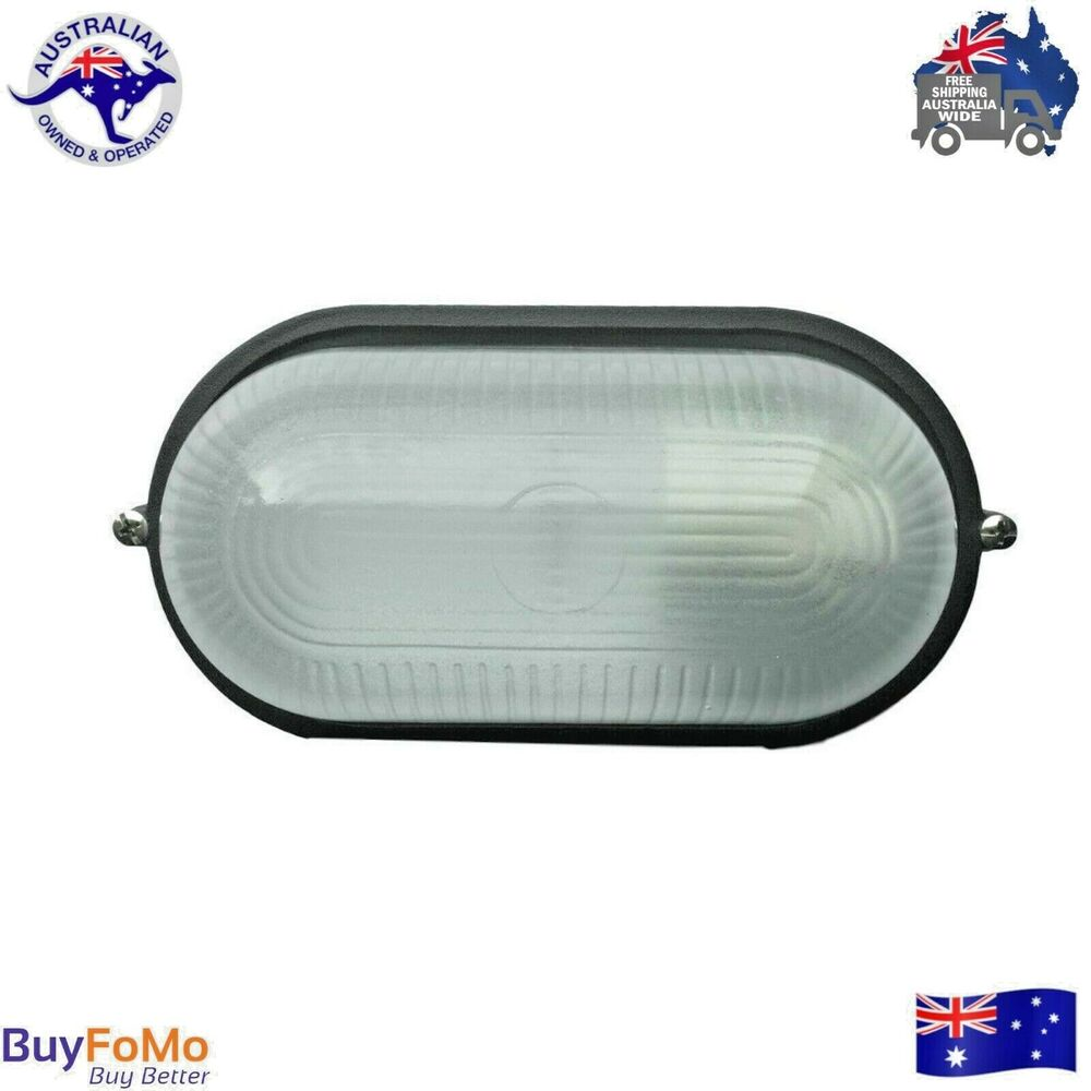 Led Wall Light Crompton: Wall Mounted Bunker Utility Light LED Compatible E27