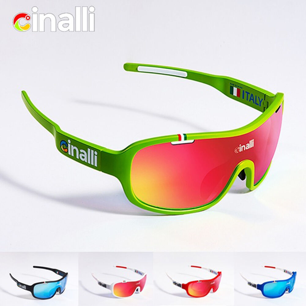 508335a28f Details about CINALLI Cycling Sunglasses Polarized Eyewear Sports Racing  Goggles 4-Lens