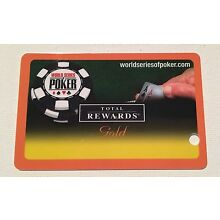 WSOP WORLD SERIES OF POKER REWARDS GOLD PLAYERS SLOT CARD LAS VEGAS NO NAME