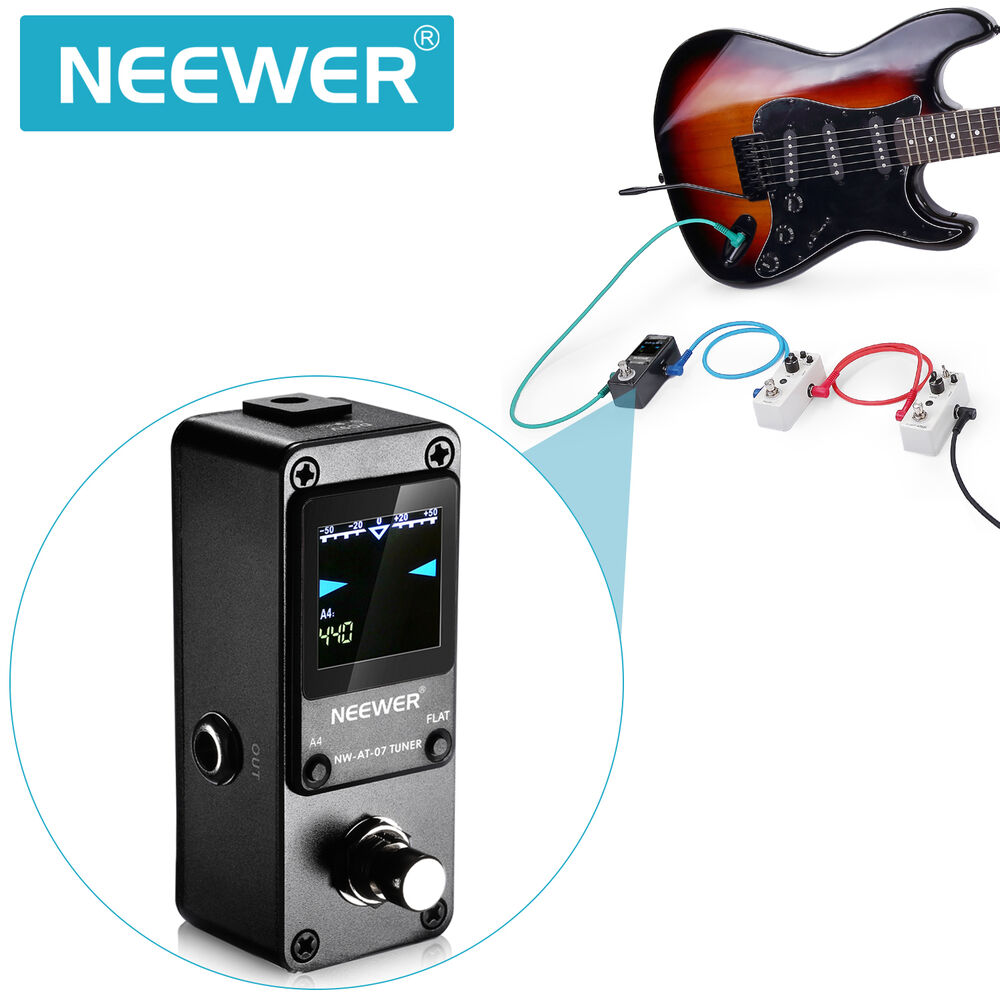 neewer nw 07 super quick and accurate chromatic guitar tuner pedal true bypass ebay. Black Bedroom Furniture Sets. Home Design Ideas