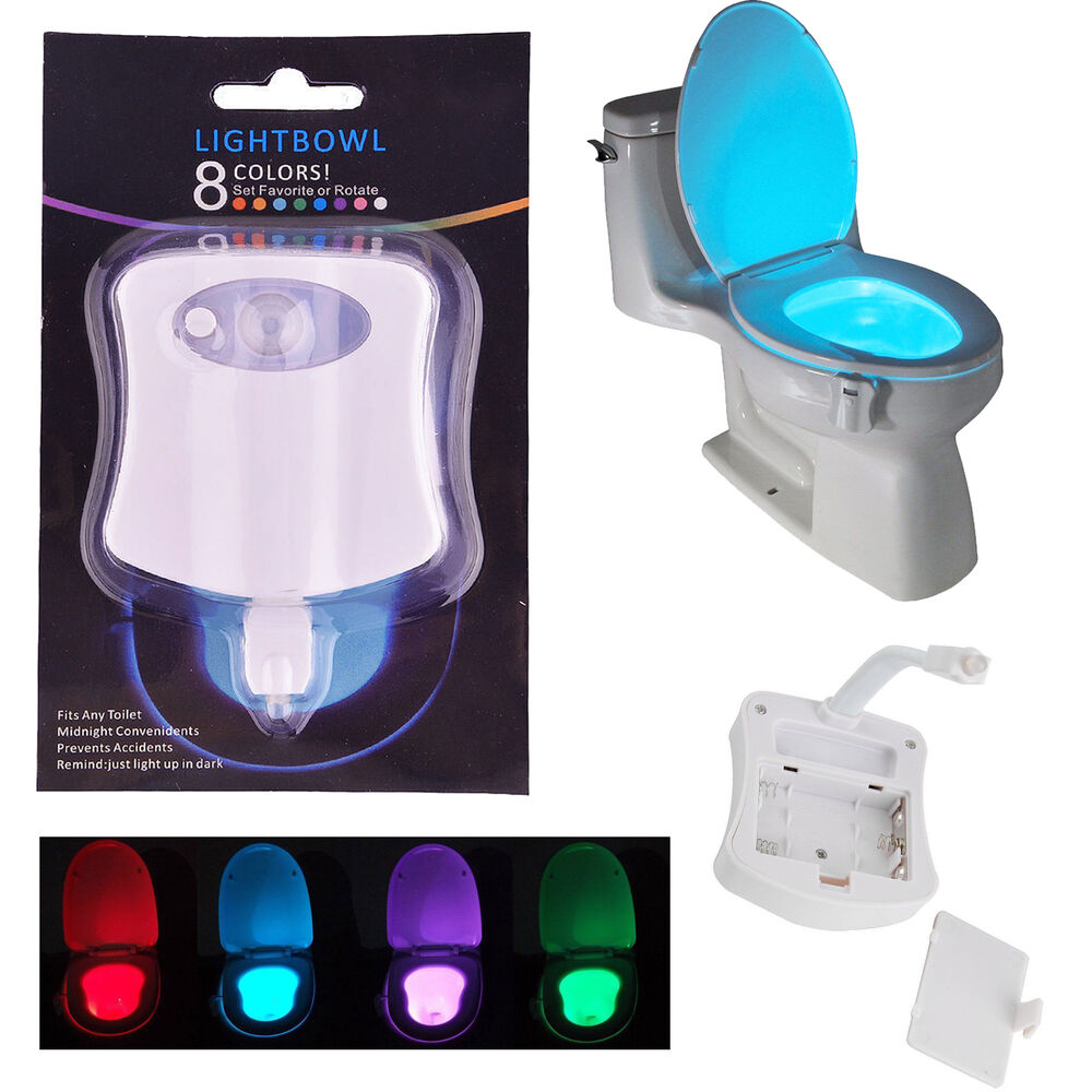 motion sensor light for bathroom motion activated toilet light bowl bathroom led 8 23839