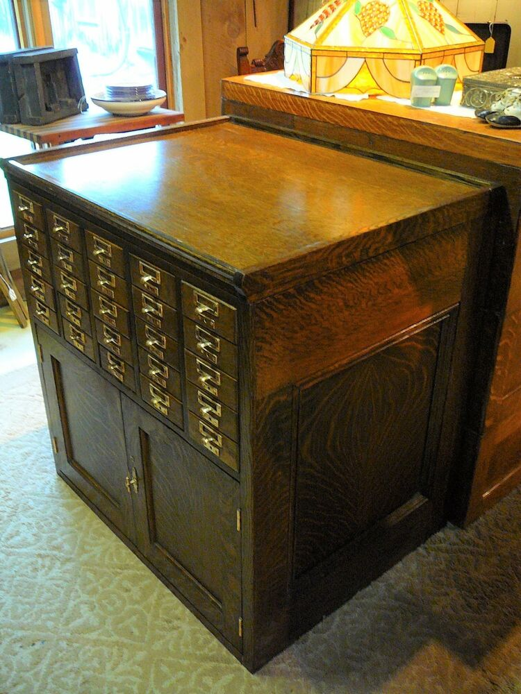 card catalog cabinet antique 25 dr quarter sawn oak library card catalog file 13272