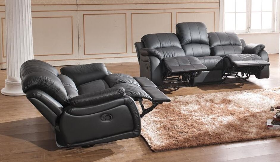voll leder couch sofa garnitur relaxsessel fernsehsessel 5129 3 2 s sofort ebay. Black Bedroom Furniture Sets. Home Design Ideas